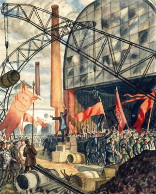 Boris Mikhailovich Kustodiev. Proletarians of all countries unite