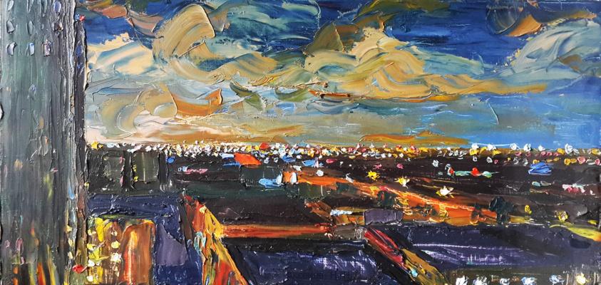 """Nikolay Nikolayevich Aksenov. """"Landscape - N 1"""""""