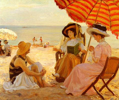 Альфред Виктор Фурнье. На пляже