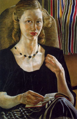 Stanley Spencer. A girl with a book
