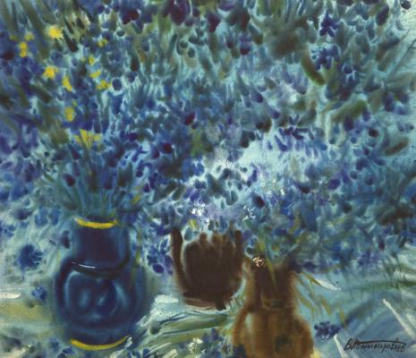 Василий Андреевич Поникаров. Синие цветы