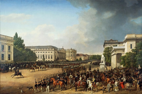Franz Kruger. Military parade on the Opera square in Berlin