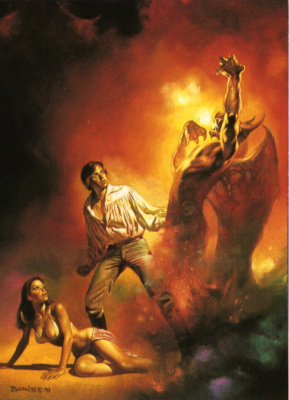 Boris Vallejo (Valeggio). The revival of the demon