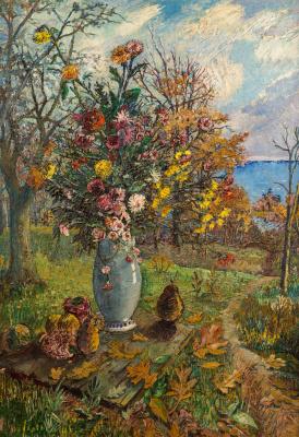 David Davidovich Burliuk. Autumn still life
