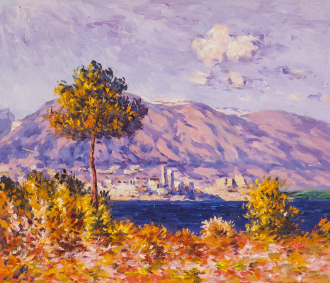 Savely Kamsky. Pinea in Antibes. 1888 Copy of Claude Monet's painting »