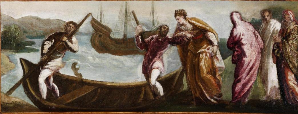 Якопо (Робусти) Тинторетто. Св. Елена садится в лодку на Святой Земле
