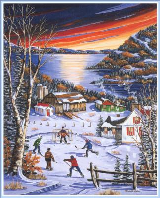 Муриелл Хайнс. Деревня зимой