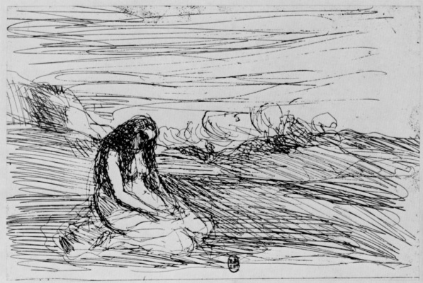 Camille Corot. Praying Magdalen