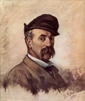 Giovanni Fattori. Self-portrait in fifty years