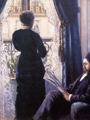 Interior. Woman at the window