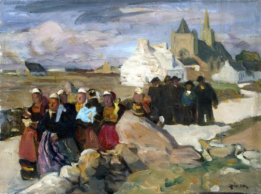 Lucien Simon. A Breton and Bretons