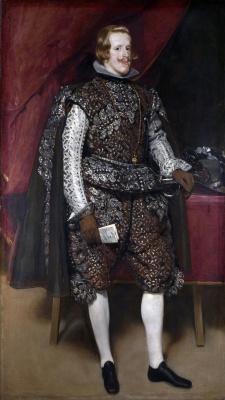 Диего Веласкес. Портрет Филиппа IV в коричневом с серебром костюме