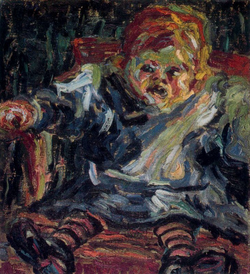 Erich Heckel. Sitting child