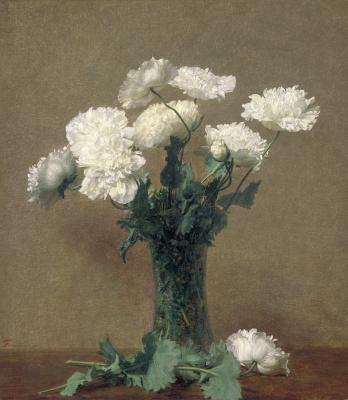Henri Fantin-Latour. Poppies in a vase