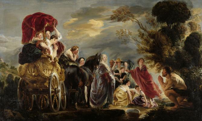 Якоб Йорданс. Odysseus and Navsikaya