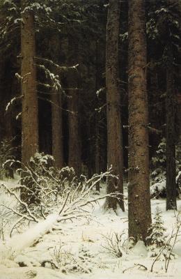 Иван Иванович Шишкин. Еловый лес зимой