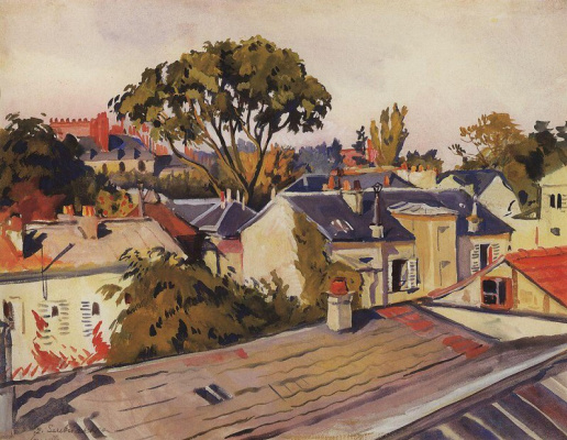 Zinaida Serebryakova. Versailles. The rooftops of the city