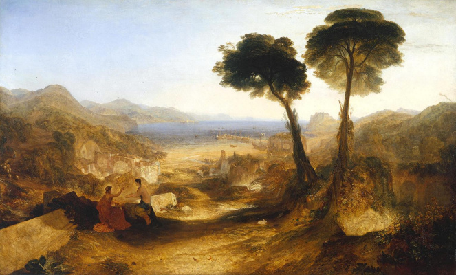Joseph Mallord William Turner. In the Bay of Baia with Apollo and the sibyl
