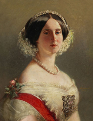 Franz Xaver Winterhalter. August of Saxe-Weimar, Princess of Prussia (1811-1890), later Queen of Prussia and German Empress (lost version)