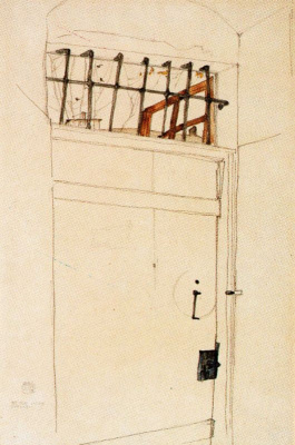 Egon Schiele. The door