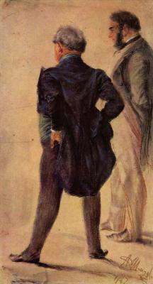 Адольф фон Менцель. Любители искусства