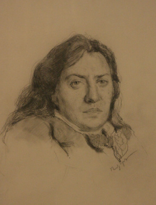 Valentina Serova, the artist's mother