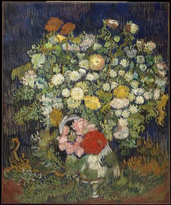 Винсент Ван Гог. Хризантемы и дикие цветы в вазе