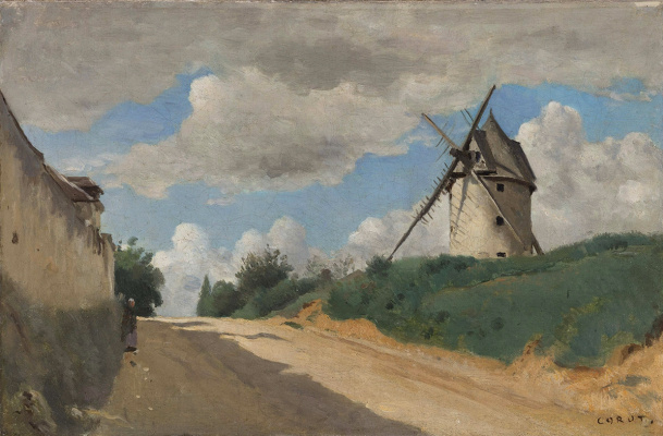 Windmill on the Cote de Picardy, near Versailles