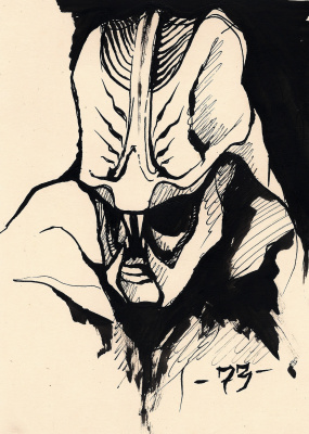 CEA 73. Alien creature sketch