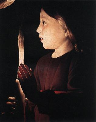 Georges de La Tour. Christ (fragment)