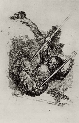 Francisco Goya. The old woman on the swing