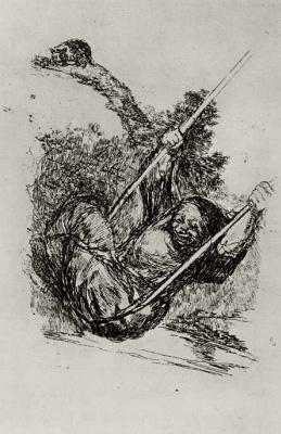 Франсиско Гойя. Старуха на качелях