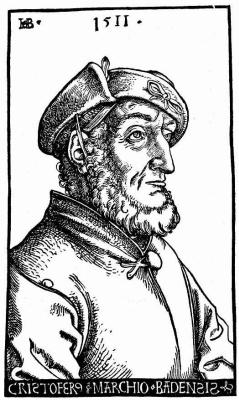 Ханс Бальдунг. Портрет Кристофа I, маркграфа Баденского и Хохбергского