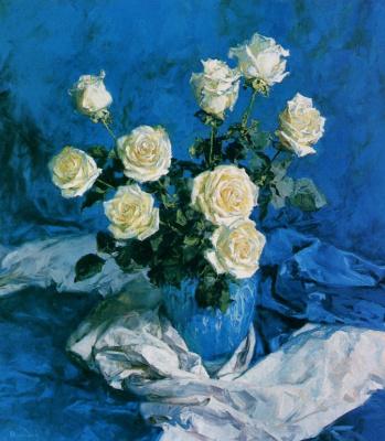 Евгений Монахов. Синий бархат и белые розы