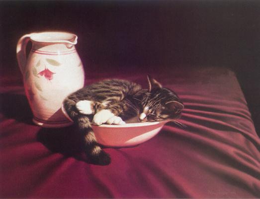 Нэнси Хоу. Натюрморт с котом
