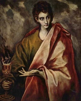 Domenico Theotokopoulos (El Greco). Saint John The Evangelist