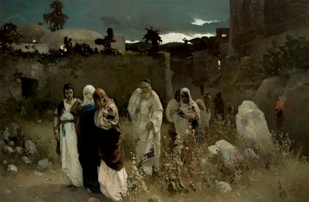 Wilhelm Alexandrovich Kotarbinsky. The return from Calvary. Mary at the tomb of Christ
