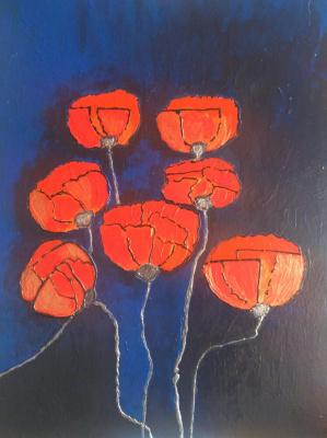 Polina Alekseevna Alexandrova. Golden poppies