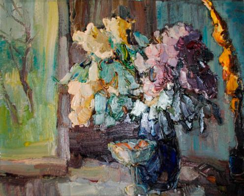 Павел Борисович Блуднов. Сирень с вазой.  2001