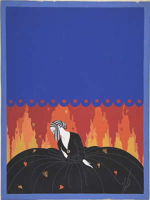 "Romain Tirtoff. Souvenir. Cover Design for ""Harpers Bazaar"""