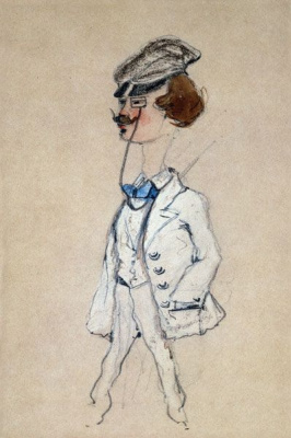 Claude Monet. A young man with a monocle