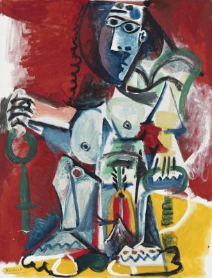 Пабло Пикассо. Сидящая обнажённая