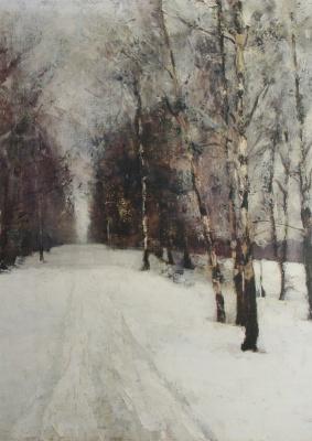 Alexey Stepanovich Stepanov (1858-1923). Winter road. 1900s