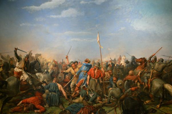 "Peter Nikolay Arbo. ""Battle of Stamford Bridge"""