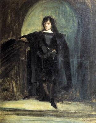 Эжен Делакруа. Автопортрет в образе Эдгара Равенсвуда, или Гамлет
