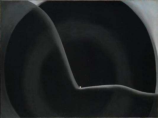 Georgia O'Keeffe. Black abstraction