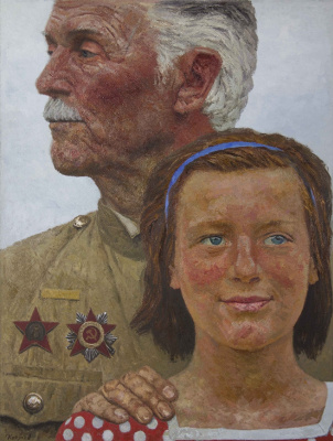 """Heliy Mikhailovich Korzhev. A series of """"Scorched by the war fire"""": Alert"""