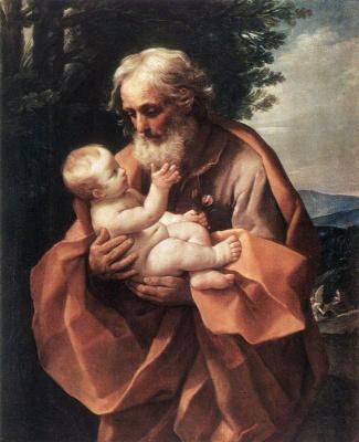 Guido Reni. SV. Joseph and the baby Jesus
