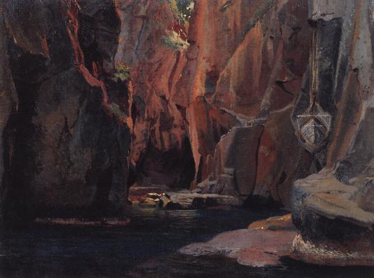 Nikolai Nikolaevich Ge. Gorge in the mountains of Carrara. Etude