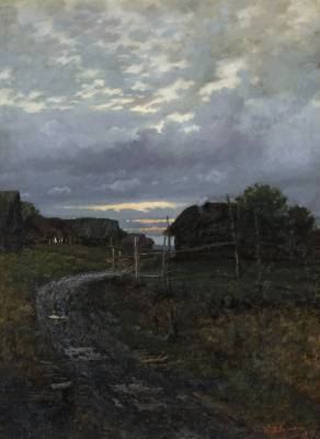 Isaac Levitan. The evening